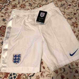 NWT Nike England dry fit boys shorts